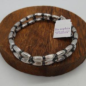 Lia Sophia Woodland Stretch Bracelet In Silver